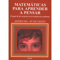 Ebook Matemáticas Para Aprender A Pensar