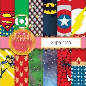 Kit Imprimible Pack Fondos Super Heroe 79 Clipart