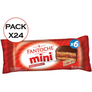 Mini Alfajor Chocolate Blister X6 Fantoche Caja X24 X6 C/u