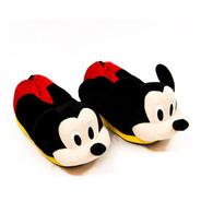 Pantufa 3d Mickey Mouse Solado De Borracha Original Disney