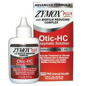 Nueva Zymox Plus Otic-hc 1.25 Fl. Tratamiento Otitis Oz Hidr