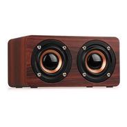 Caixa Bluetooth Mp3 Player 10w - Recarregável- Madeira Mogno