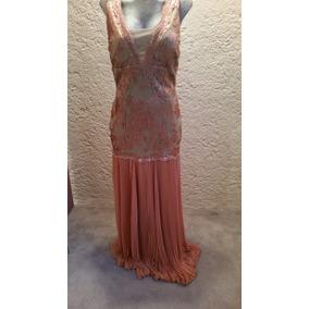 Vestido Maria Isabel Nuevo De Noche Color Rosa Largo