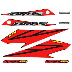 Kit Adesivos Honda Nxr 150 Bros Esd 2008 Preta