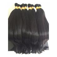 Cabelo Humano Mega Hair 100 G Liso Castanho Brasileiro