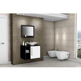 Gabinete Armário Para Banheiro Com Pia Baden Fresno_branco