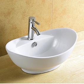 Cuba Banheiro Apoio Sobrepor Porcelana Linda 8001