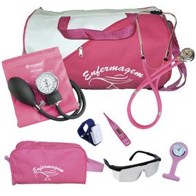 Kit De Enfermagem Completo Com Relógio Para Jaleco - Pink