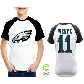 Camisa Infantil Philadelphia Eagles Wentz Nfl Raglan 09c749639a3b7