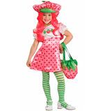 Fantasia Moranguinho Infantil Vestido Luxo Rubies Com Chapéu