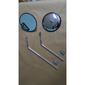 Espelho Retrovisor Kombi Antiga 75 Cromado Com Haste O Par