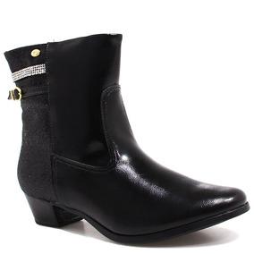Bota Ankle Boot Pampili Glitter 154060 (nota Fiscal)| Zariff
