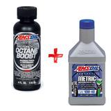 Kit Aceite Sintetico Motos 10w-40 + Aditivo Octano Amsoil