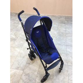 Carrinho Para Bebê Chicco Liteway Azul + Brinde - Usado