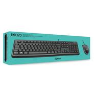 Kit Teclado Y Mouse Logitech Mk120 920-004428 Negro Usb