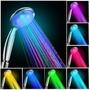 Automático 7 Colores Cambio 8 Baño Luz Led Lluvia Ducha Su