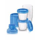 Avent - Pack 10 Vasos De Almacenamiento De Leche Materna 180