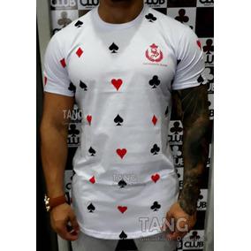 Camiseta Longline Baralho Moda Camisa Blusas Manga Curta