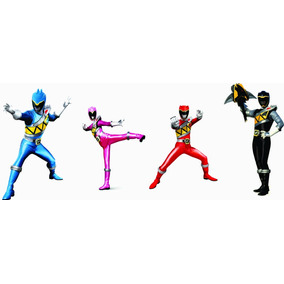 Kit Display Power Ranger Dino Charge 4 Peças - Envio 48h