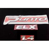 Kit Emblema Nomes Punto + Elx + 1.4,