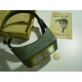 Antiguo Optivisor Aumento Binocular En Baquelita
