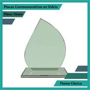 Placas De Reconocimiento En Vidrio Flame Clásica Plano 10mm