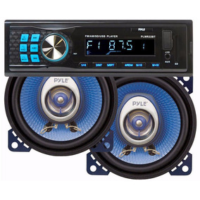 Combo Pyle Estereos Plmr22bt Bluetooth + Parlantes 4 Pulgada