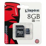 Kit 10 Cartão De Memória Micro Sd 8gb Kingston Lacrado