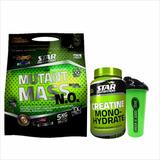Combo Crecimiento Mutant Mass 5k+creatina 300g + Vaso Shaker