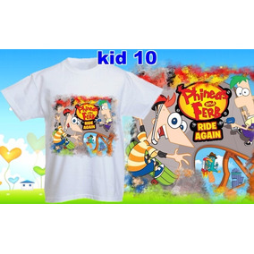 Remeras Phineas And Ferb Perry Unisex Dama Sublimada