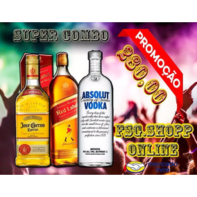 Red Label Tequila Absolut Combo Fim De Ano