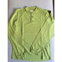 Camiseta Polo Infantil Verde - Manga Longa - Tyrol - Tam. 12