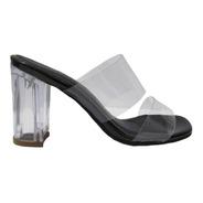 Sandalia Dama Tacón 7 1/2 Color Negro