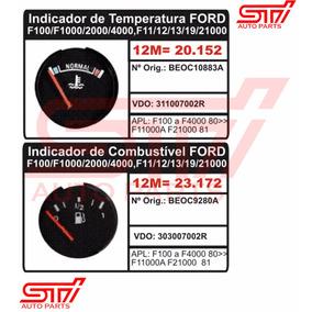 Par Relógio Indicador Temperatura Combustivel Ford F1000