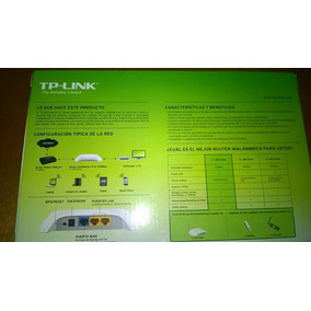 Router Wifi Inalambrico 150mbps Tp Link Nuevo