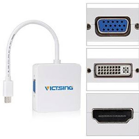 Victsing Mini Display Port Dp A Dvi Vga Hdmi Av Tv Cable Ada