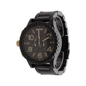 7b12dfcb44d Relógio Nixon 52-30 Todo Preto Detalhes Dourado Pronta Entre. R  389 99