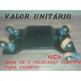 Plataforma Auto Socorro Patins Guincho Rodas Giratória 4 Pol