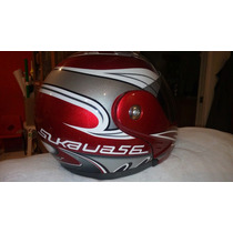 Casco Moto Lifestyler Modelo Slkaua56 Color Rojo