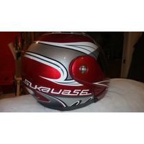 Casco Moto Lifestyler Modelo Slkaua56 Color Rojo