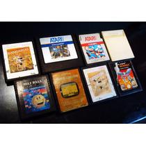 Juegos De Atari 8 Cartuchos Mario Bros Lote