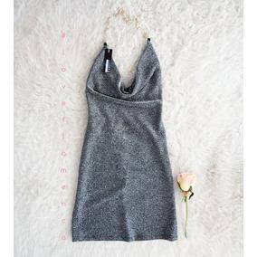 Vestido Lurex Sin Espalda Escote Buche