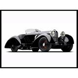 Mercedes Benz Ssk Trossi 1930 Cuadro Enmarcado 45x30cm