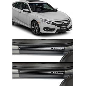 Jogo Soleira Premium Elegance Honda Civic G10 2016 2017 4p