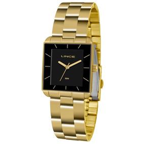 f83088ea2c0 Relógio Lince Dourado Quadrado - Joias e Relógios no Mercado Livre ...