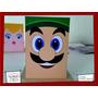 Souvenir Evento Lapicero Personaliza Madera Mario Bros Luigi