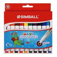 Marcadores Simball Maxi X 10 Muy Buena Calidad