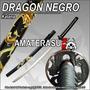 Katana Sable Espada Samurai Dragon Negro Iaito Iaido Kendo
