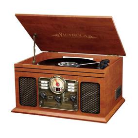 Toca Discos Nostálgico Victrola 6 En 1 Bluetooth