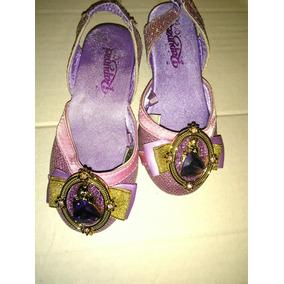 Sandalias Princesas Rapunzel Flats Disfraz Halloween Niña
